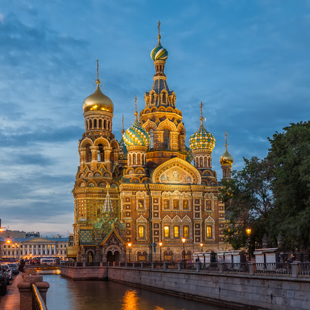 christ blood: Church of the Saviour on Spilled Blood in the evening, St. Petersburg, Russia
