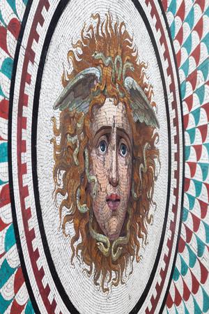 hermitage: SAINT PETERSBURG, RUSSIA - JUNE 29, 2016: Floor mosaic Medusa Gorgon in Hermitage Pavilion Hall Editorial
