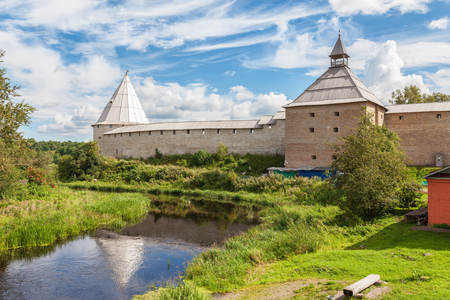 ladoga: Old fortress in Staraya Ladoga on the Volkhov river, founded in IX-X centuries, Russia