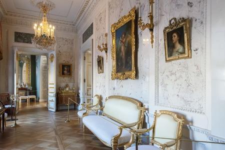 palacio ruso: PAVLOVSK, ST. PETERSBURGO, RUSIA DE OCTUBRE DE 01, 2016: Interior del palacio de Pavlovsk, residencia imperial rusa construida por Pablo I, que ahora es un museo Editorial