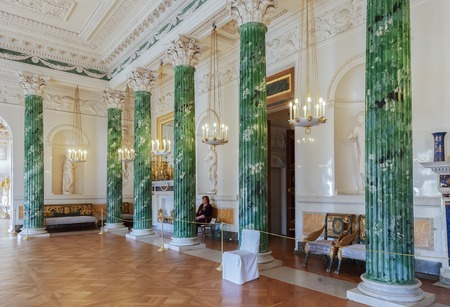palacio ruso: PAVLOVSK, SAINT PETERSBURG, RUSSIA OCTOBER 01, 2016: Interior of the Pavlovsk palace, Russian Imperial residence built by Paul I, now it is a museum