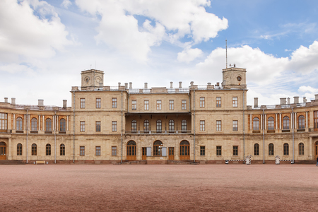 residences: GATCHINA, SAINT PETERSBURG, RUSSIA - OCTOBER 16, 2016: The Great Gatchina Palace.  The Gatchina Palace was one of the favourite residences of the Imperial family.