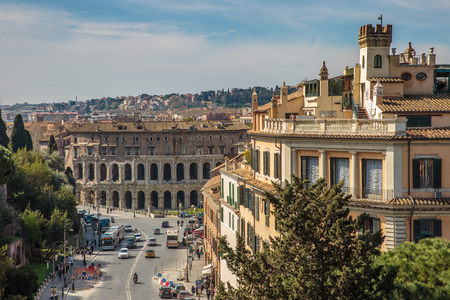 Rome, Italy – March 25, 2018: View of the center of Rome from the top