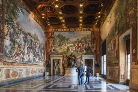 Rome, Italy – March 25, 2018: Interior of Capitoline museum