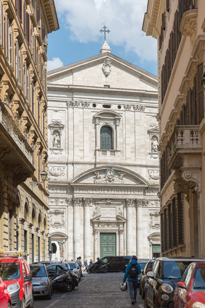 Rome, Italy – March 26, 2018:  Street in the center of Rome
