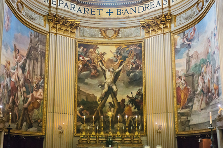 Rome, Italy – March 26, 2018: Interior of baroque Church of St. Andrew