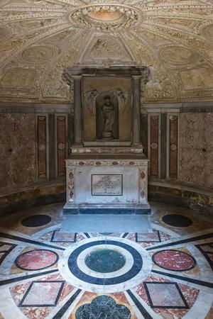 Rome, Italy – March 27, 2018: Interior of Tempietto built by Donato Bramante. It is a masterpiece of High Renaissance Italian architecture.