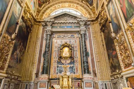 Rome, Italy – March 27, 2018:  Interior of Basilica San Giovanni dei Fiorentini Editorial
