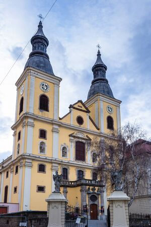 Church in the center of town Eger, Hungary Editorial