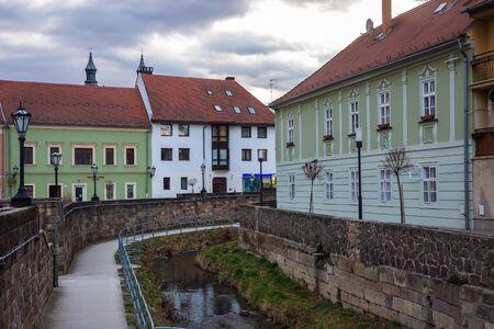 Eger, Hungary - March 07, 2019: Street  in the center of Eger Standard-Bild - 137610236