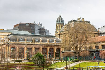 Budapest, Hungary - March 10, 2019: Nyugati Train Station, the Station was constructed by Eiffel