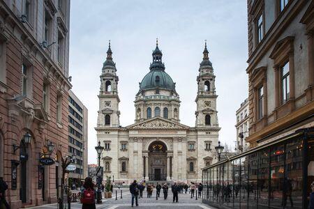 Budapest, Hungary - March 07, 2019: St. Istvan (St. Stephen's) Basilica