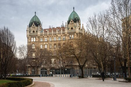 Budapest, Hungary - March 07, 2019: In the center of Budapest