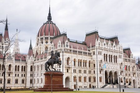 Budapest, Hungary - March 08, 2019: Hungarian parliament building