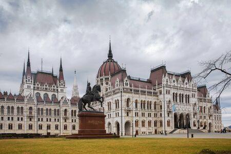 Budapest, Hungary - March 08, 2019: Hungarian parliament building Standard-Bild - 137610268