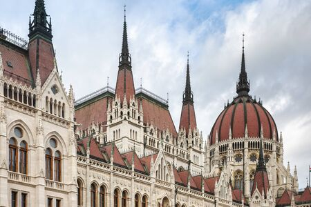 Hungarian parliament building  in Budapest city, Hungary