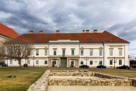 Budapest, Hungary - March 08, 2019: The Sandor Palace is  the official residence of the President of Hungary.