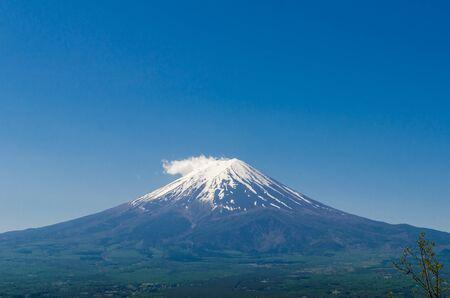 fuji san: Mount Fuji (Fuji san) in spring