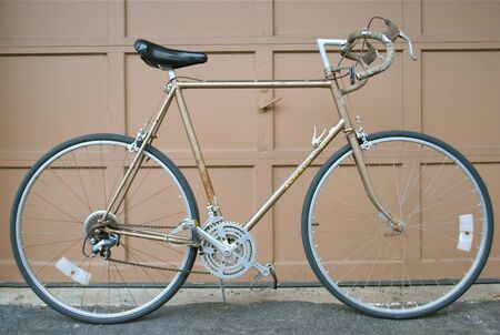Parked vintage road bicycle