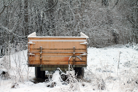A lonely wagon