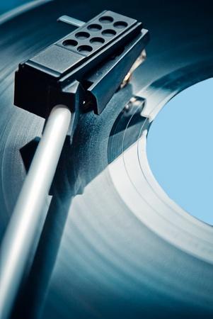 Black vinyl record lp album