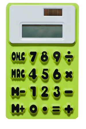 green calculator Stock Photo - 12469594
