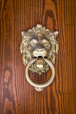 Ancient door knocker photo