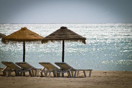 view of Torremolinos beach , Malaga