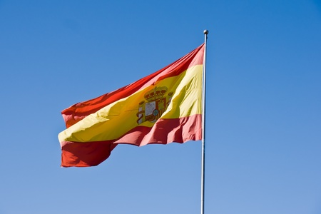 spanish flag in Granada, Spain photo