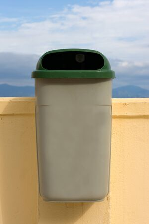 bin in a street photo