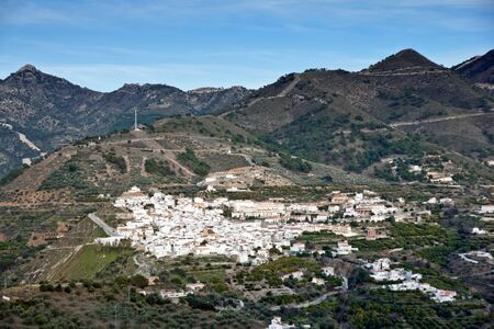 Canillas de Albaida in Spain, a traditional white town/village Stock Photo - 13044999