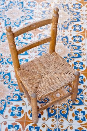 wood chair Stockfoto