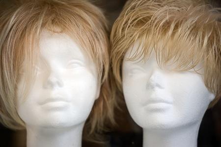 woman blonde wigs photo