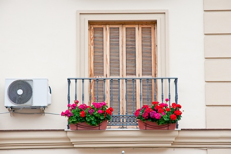 balcony with pots Stock Photo - 13388325