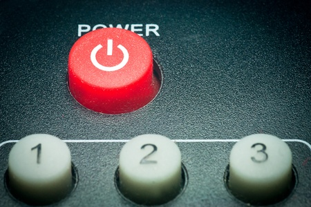 power button: Remote control power button Stock Photo
