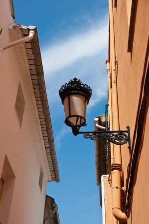 old lamppost in a street Stock Photo - 13569770