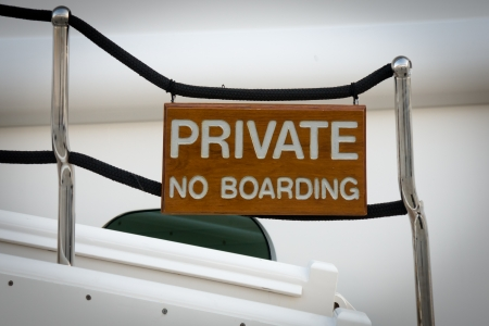 no boarding signal in a boat