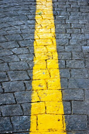 yellow line in a road photo