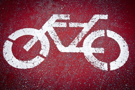bicycle sign on a road photo