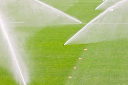 irrigation turf in a stadium Stock Photo - 14589060