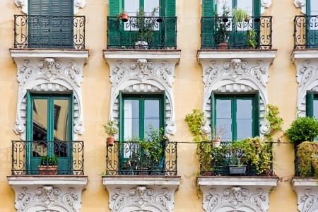 balcony with pots Stock Photo - 15034007