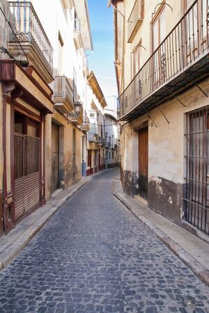 street in Xativa in Valencia, Spain