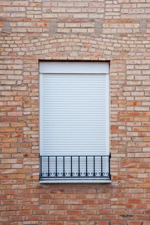 old  window in a brick wall  Stock Photo - 16483616