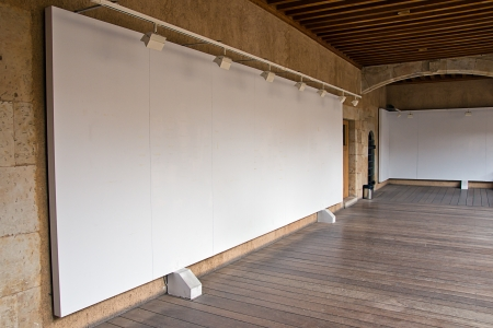 placard: blank billboard
