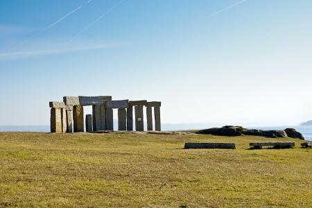 celtic monuments in A Coruna, Spain