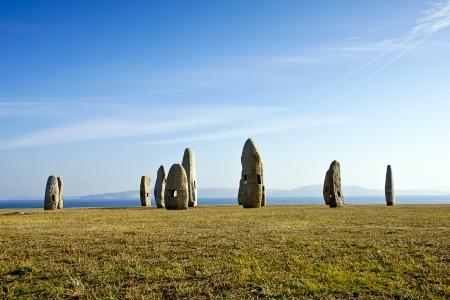 celtic monuments in A Coruna, Spain photo