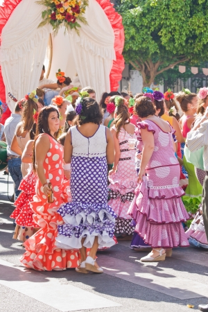 TORREMOLINOS, SPAIN - SEPTEMBER 23: Pilgrims participate in the traditional Romeria