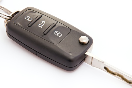 Garage remote control over white background  photo