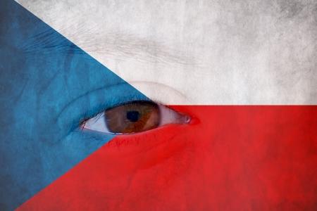 Czech republic flag Stock Photo - 17300109