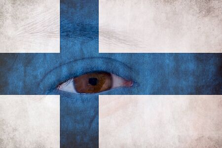 finland flag: Finland flag Stock Photo